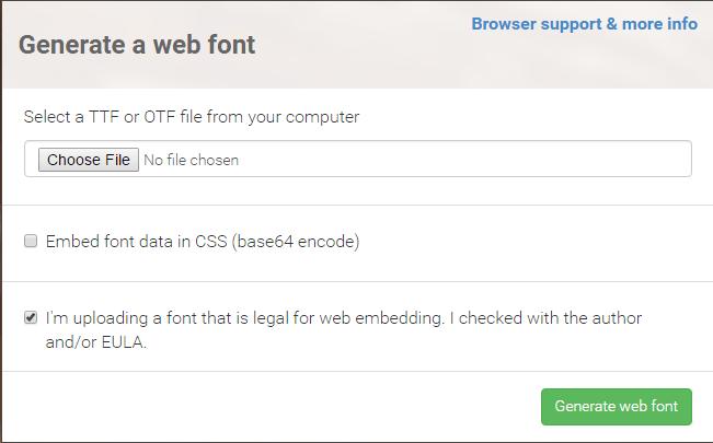 web-font-generator